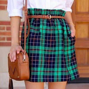 J.crew plaid mini skirt